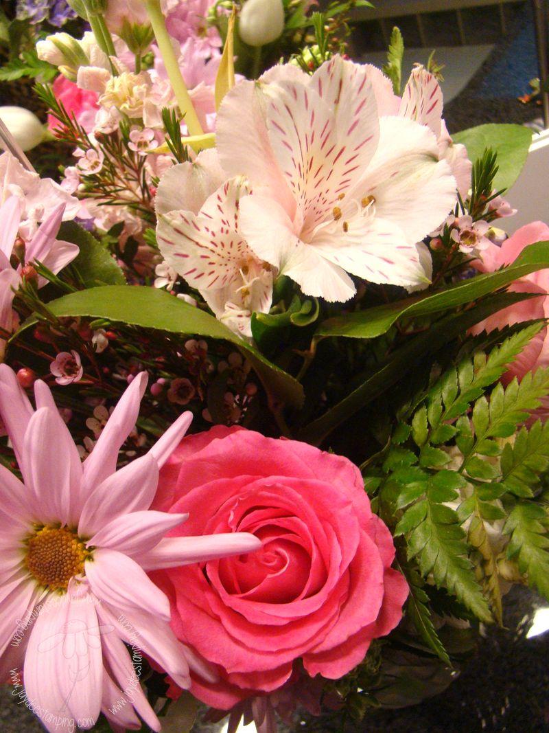 Birthday bouquet closeup