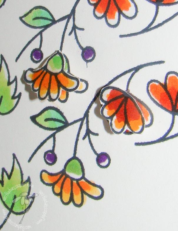 Blooming borders freshly made closeup