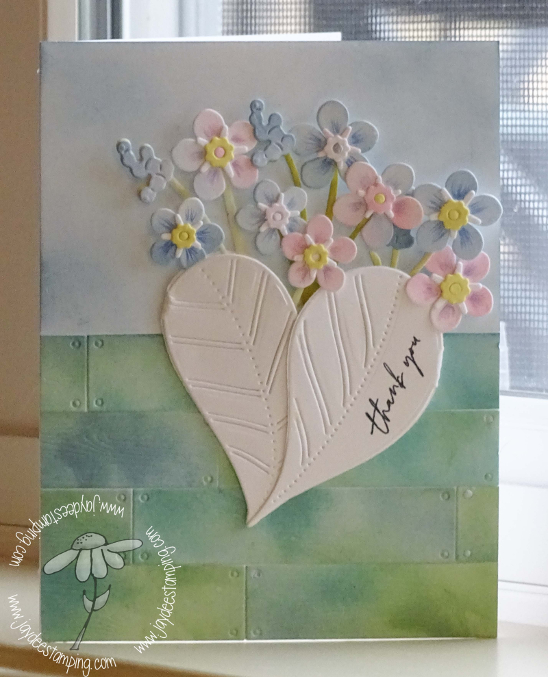 Forget Me Not Posy Heart Shiplap  (1 of 1)